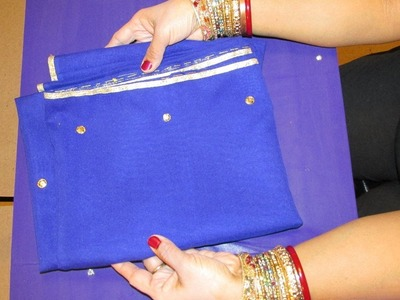 CREATE YOUR VERY OWN DESIGNER DUPATTA. SCARF WITH TRIM (LACE) AND SEQUINS