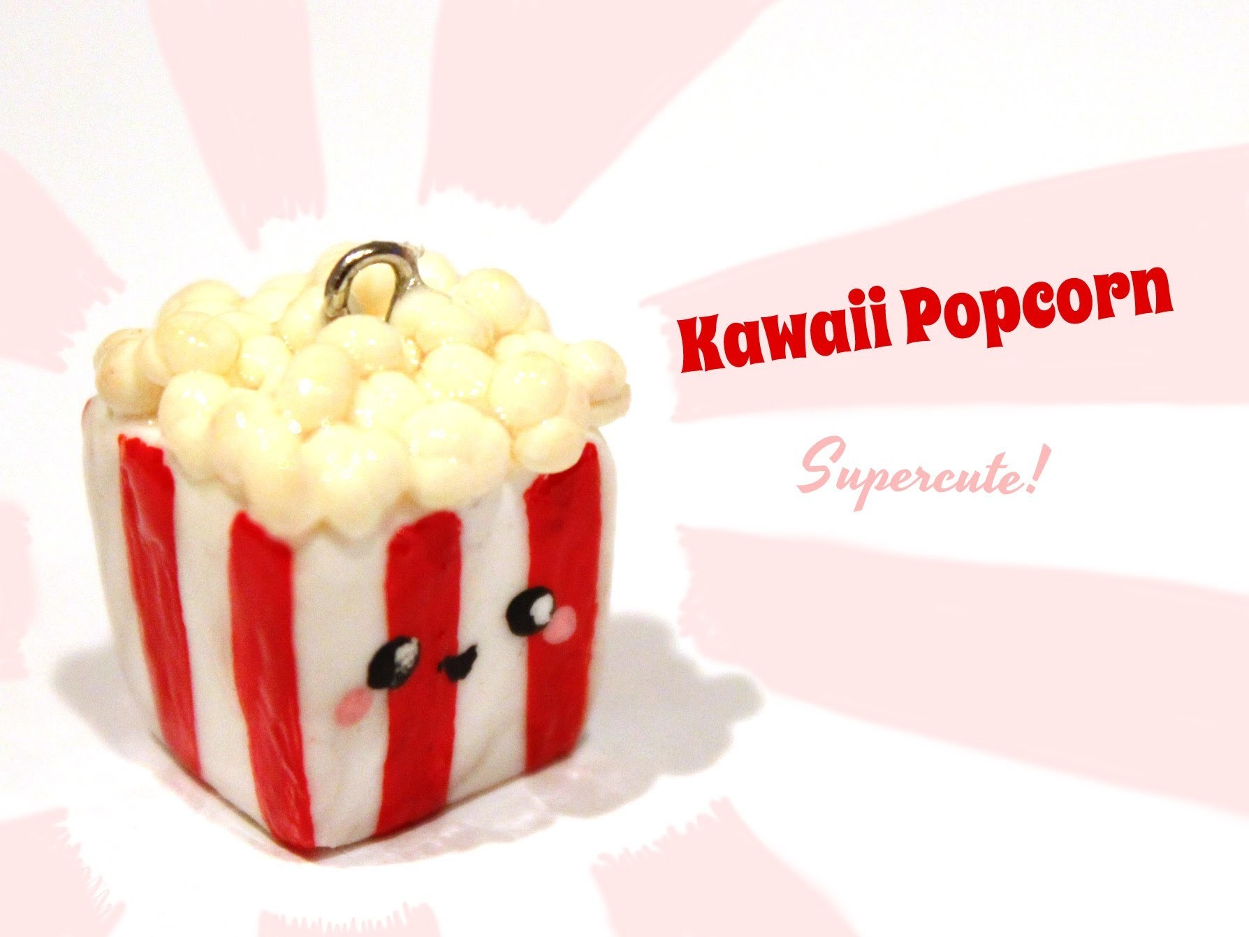 ◕‿‿◕ Popcorn! Kawaii Friday 60- Polymer Clay How-to-video