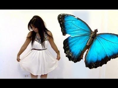 Fashion : Crystal Embellished Flowy White Dress (OOTD)