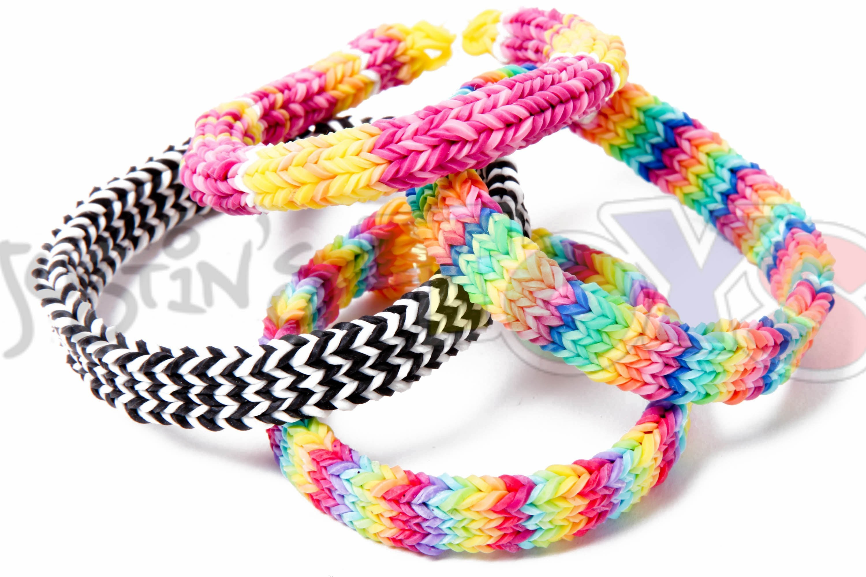 FLEXAFISH - Flat Hexafish - Rainbow Loom Bracelet Tutorial on One Loom