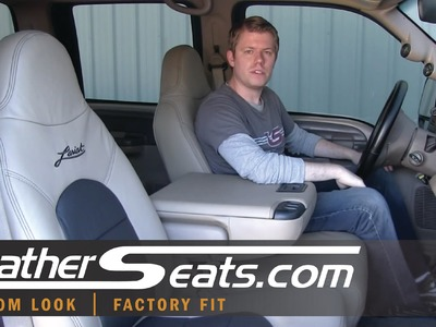 Ford F-250 F-350 Crew Cab Lariat replacement Leather Interior Upholstery kit - LeatherSeats.com