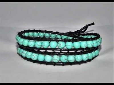Handmade Unique♥♥♥Leather wrap bracelets♥♥♥summer collection 2011 - by A&M Designs
