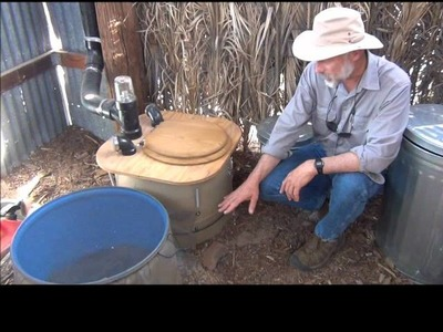 How to Build a Composting Toilet Barrel System