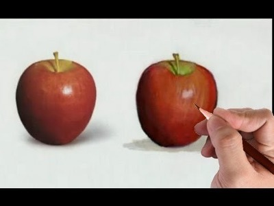 How to Draw an Apple- Illustration Technique (Color Pencils and Markers)