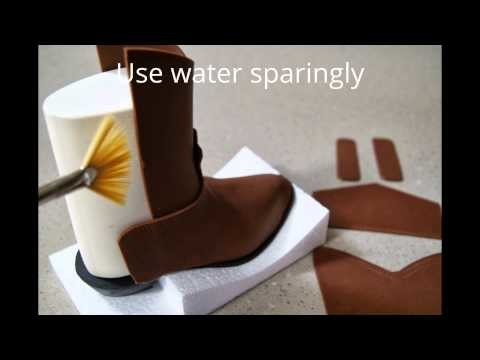How to make a Fondant Cowboy Boot by Cake Structure