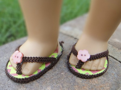 How to Make a No-Sew Flip Flops for American Girl Dolls