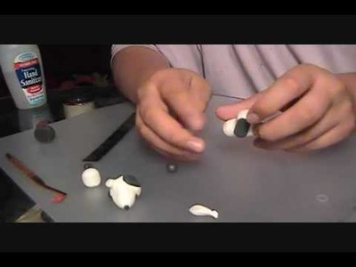 How to make a polymer clay Snoopy head