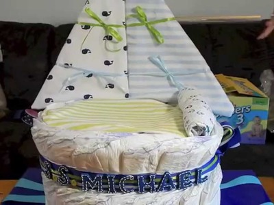 How to make a Sail Boat diaper cake