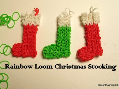 How to make Christmas Stocking ornament on Rainbow Loom