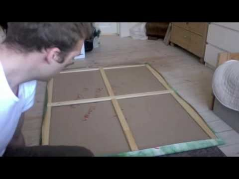How to mount a canvas on a wooden frame and save 25 dollars.