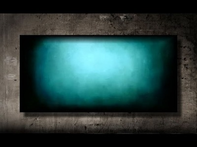How to paint a vibrant turquoise background FAST and EASY