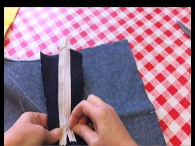 How to sew a zip fly
