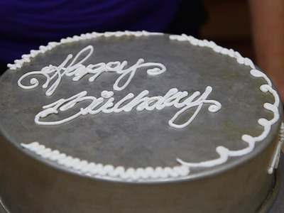 How to Use a Writing Tip With Butter Cream- Cake Decorating