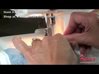 How to use the Janome Serger Piping foot