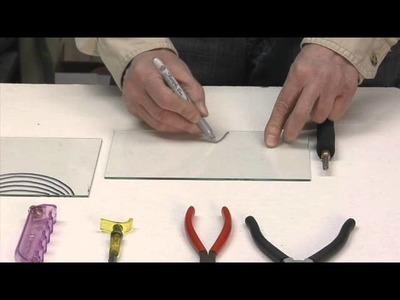 Learn to cut glass into shapes.
