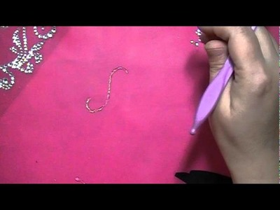 Make your own Bling Swirls with Hot Glue :)