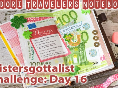 Midori Travelers Notebook - Day 16 - Listers gotta List Challenge