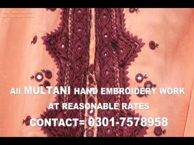 Multani Hand Embroidery