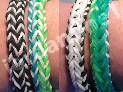 New FlipSide Bracelet - Rainbow Loom - Easy Beginner Level - Reversible- Crazy Loom, Bandaloom