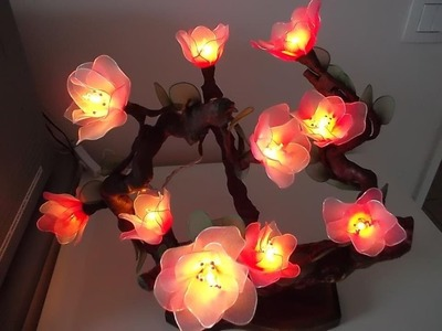 Nylon Stocking Flower with LED Lights - New Sheer Creations