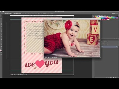 Photoshop Tutorial - How to create a clipping mask in Photoshop