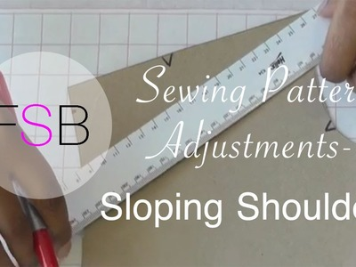 Sewing Pattern Adjustments: Sloping Shoulders