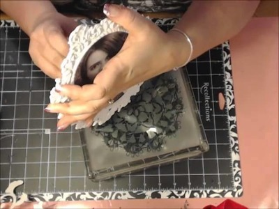 Shabby Chic Altered Glass Box Tutorial By Angela Holt