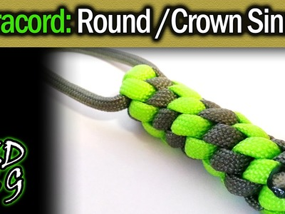 Simple Paracord: Crown Sinnet (Round Lanyard Fob)