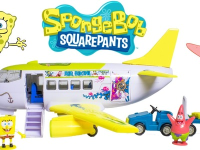 SpongeBob Airplane Air Bikini SpongeBob Plane Avión de Bob Esponja Play Dough Toy Videos