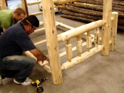 The Log Furniture Store - Our  Bunk Bed Assembly