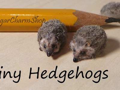 Tiny Cute Hedgehog Polymer Clay Tutorial - Bonus Video :)