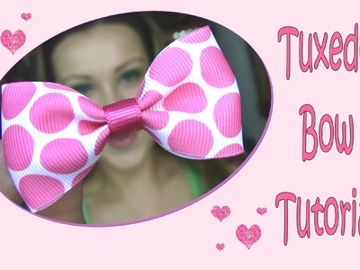 ✄ Tuxedo Bow Tutorial for Beginners & How to Line an Alligator Clip w Ribbon ✄