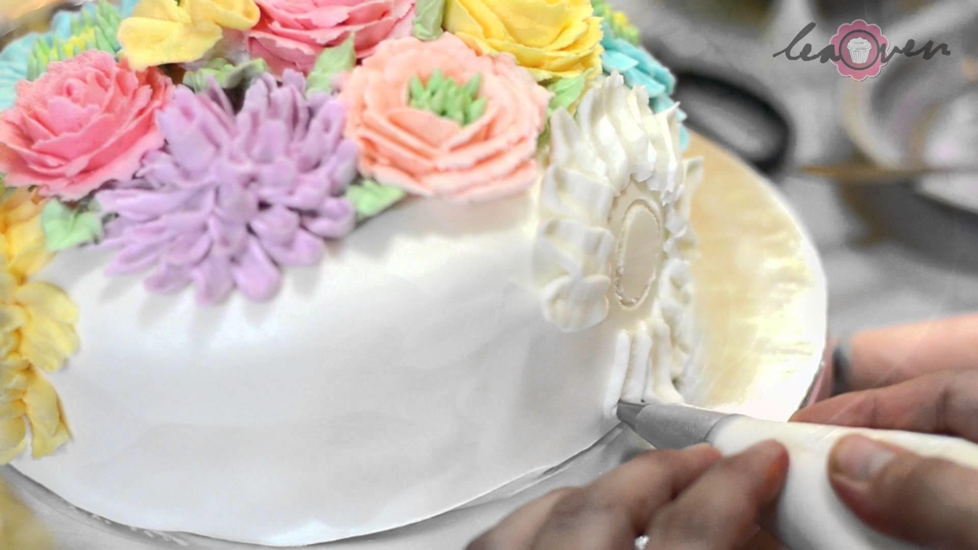 Цветы из крема для торта своими руками 84