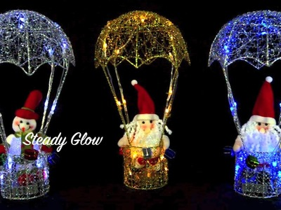 38cm Light Up Hot Air Balloon Christmas Decoration