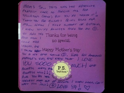 A Beautiful Mothers Day card