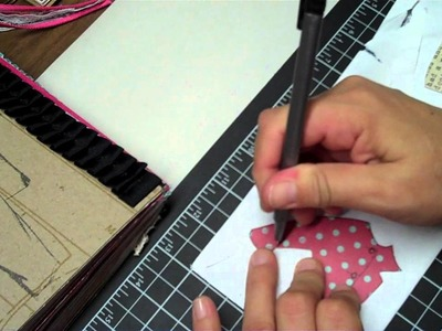 BEAN WITH A JUNK JOURNAL PAPER PIECING TUTORIAL