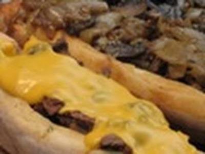 Cheesesteak Beef Steak on the grill recipe