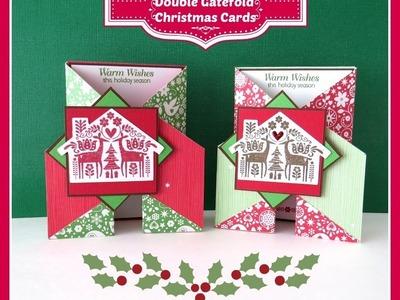 Close to My Heart CTMH Double Gate Fold Christmas Card Art Philosophy Cricut