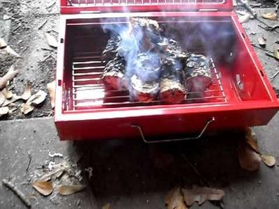 Cooking with paper briquettes Pt. 1