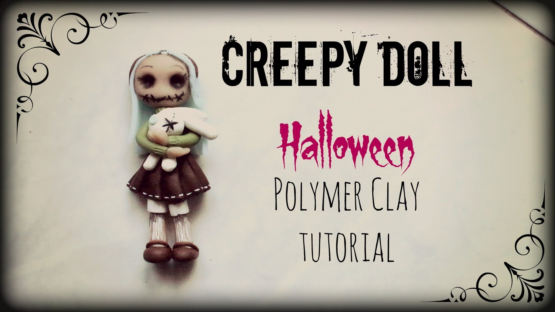 Creepy Doll ▪ Halloween ▪ Polymer Clay tutorial