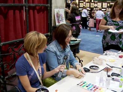 Donna Downey Teaches A Make-N-Take @ Prima Booth @ CHA Summer 2009