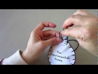 Felt Christmas Ornament Tutorial by The Experimental Home