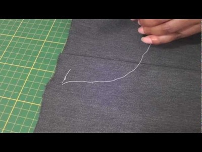 Hand Sewing - The Diagonal Basting Stitch