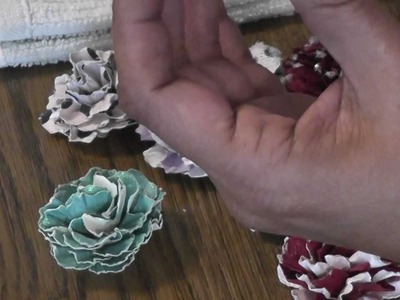 Handmade flowers and a Tutorial 10-16-12