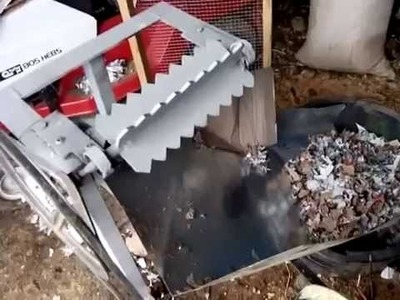 Homemade paper shredder
