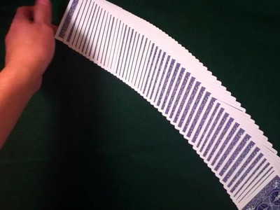 How to do card tricks: spread and flip a deck