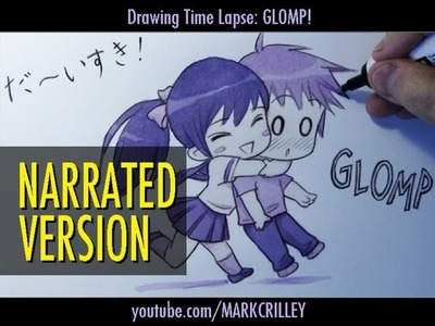 "How to Draw a Chibi Hug : ""Glomp!"" [Narrated Step by Step]"