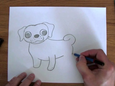 How To Draw: Easy Pug , Cute puppy