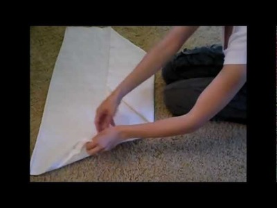 How To Fold Flat Cloth Diapers - Airplane Fold
