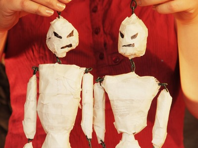 How to Make a Skeleton Mummy Puppet for Halloween Yard Art Party